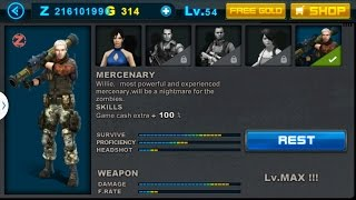 Zombie Frontier 2 - Level 50 (BOSS) With Mercenary Named Willie