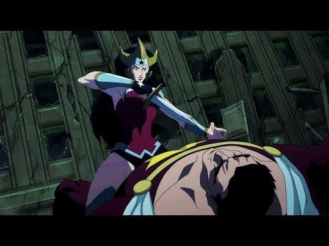 Download Wonder Woman kills Aquaman | Justice League: The Flashpoint Paradox