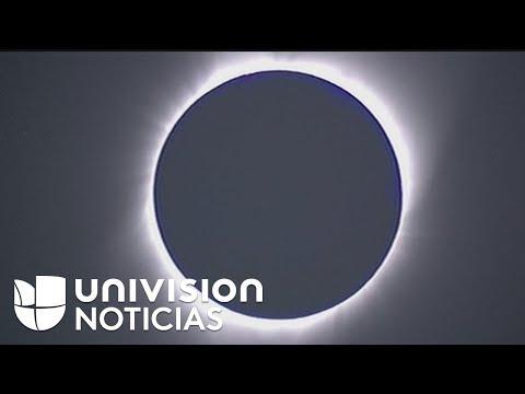 Así transcurrieron los momentos en los que se pudo observar el eclipse total de sol en Oregon