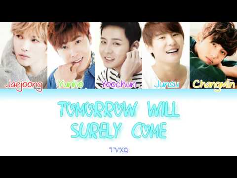 TVXQ (동방신기) - Tomorrow Will Surely Come (明日は来るから) [Colour Coded Lyrics] (Kanji/Rom/Eng)
