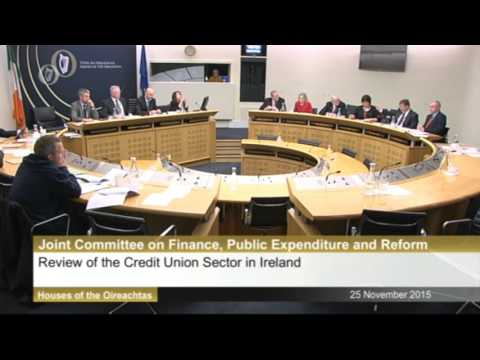 Credit Unions at the Finance Committee