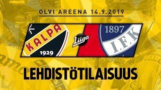 Lehdistötilaisuus, KalPa - HIFK, 14.9.2019