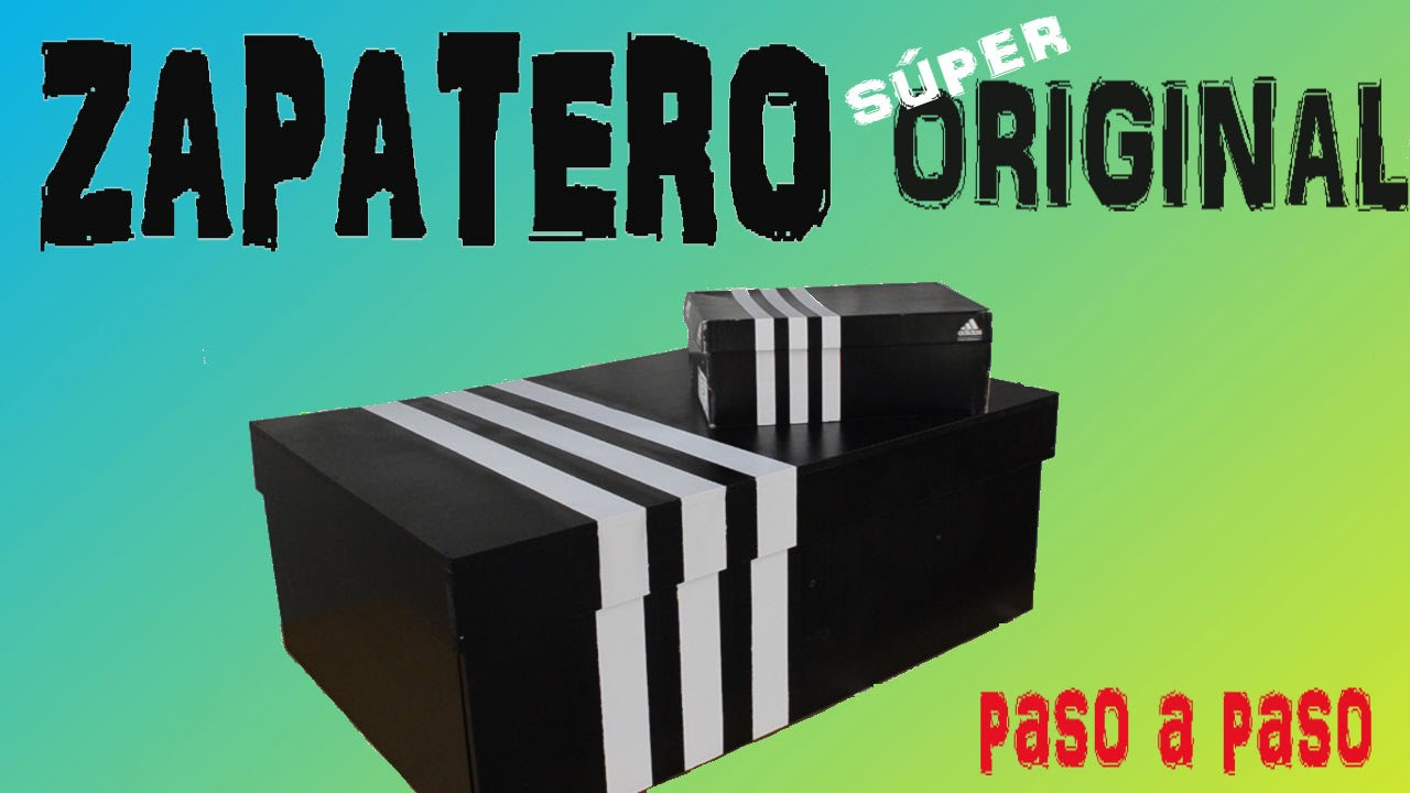 Como hacer un zapatero diy how to make a shoebox adidas - Hacer zapatero original ...