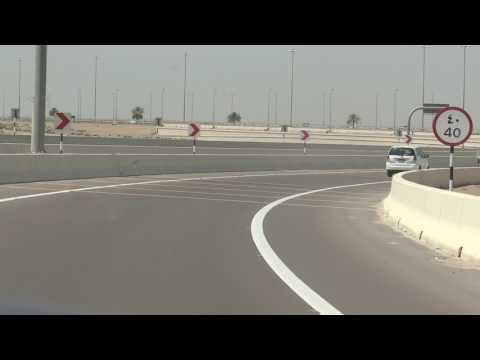Travel Abu Dhabi to Dubai motorway 9 April 2013 United Arab Emirates UAE