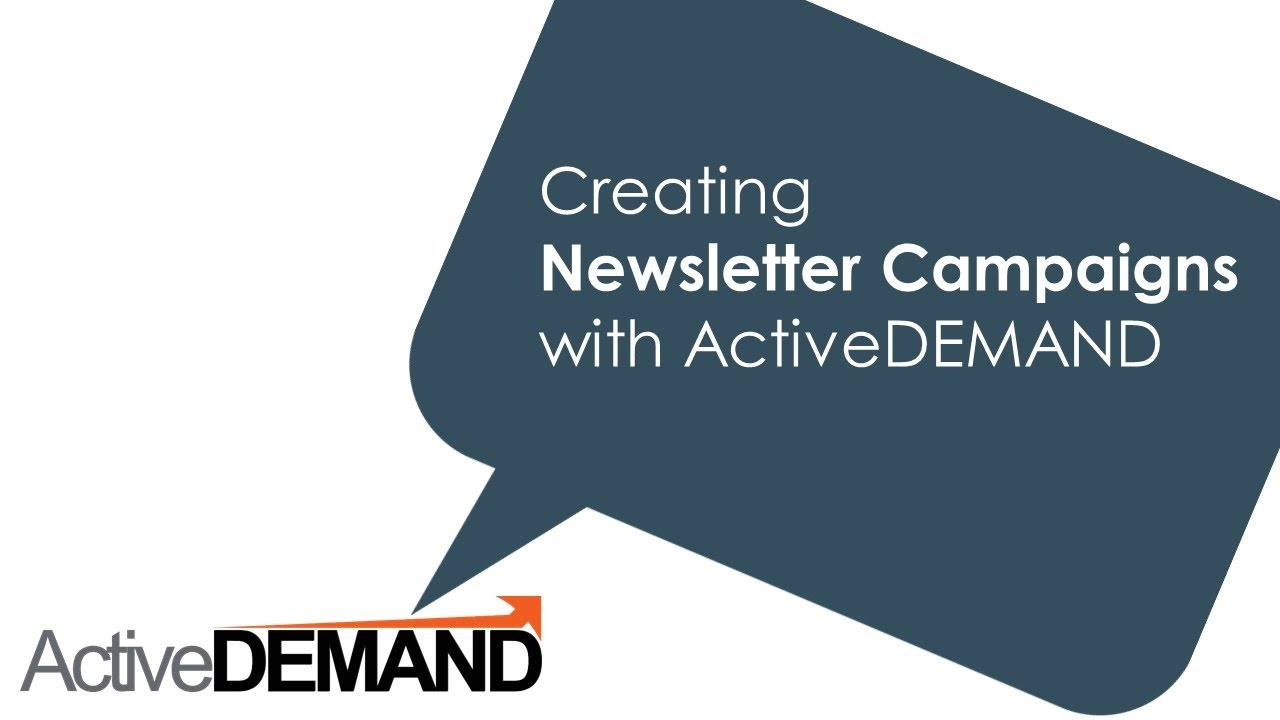 Campaign Types in ActiveDEMAND : ActiveDEMAND