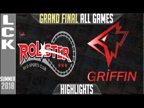 KT vs GRF Highlights ALL GAMES | LCK Playoffs Final Summer 2018 | KT Rolster vs Griffin