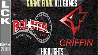 KT vs GRF Highlights ALL GAMES   LCK Playoffs Final Summer 2018   KT Rolster vs Griffin
