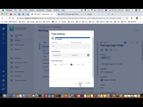 How to log hours, time or work details under ticket in Jira