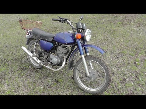 Мотоцикл МИНСК 125,запуск после зимы,сезон 2019,начало.bike Minsk 125