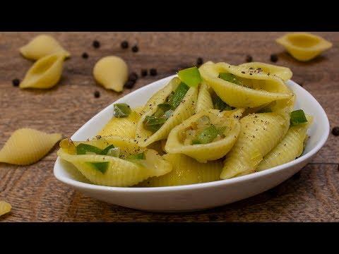 Vegane Conchiglie mit Paprika
