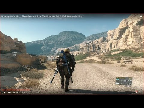 HOW BIG IS THE MAP of Metal Gear Solid V: The Phantom Pain? Walk Across the Map