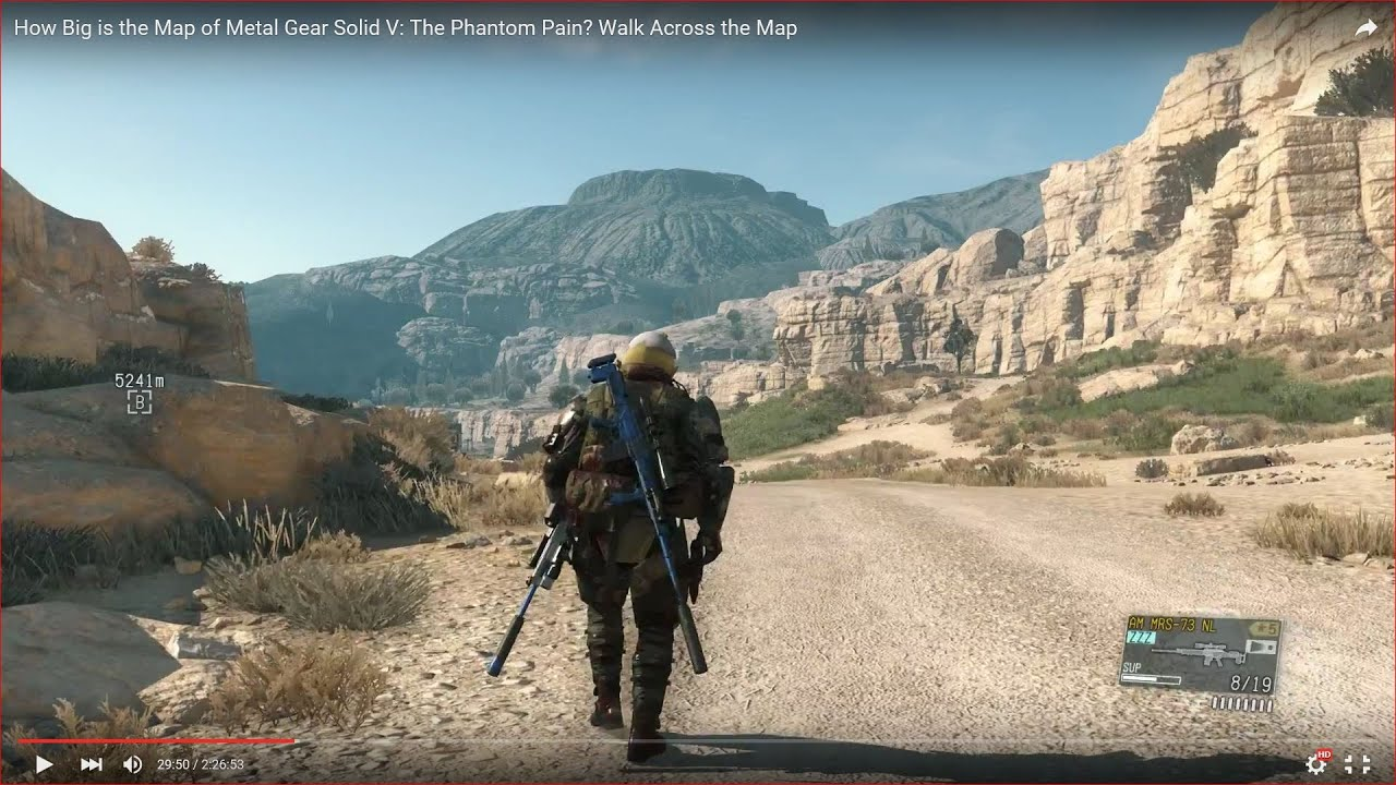 How Big is the Map of Metal Gear Solid V The Phantom Pain Walk