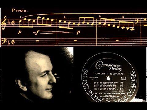 Scarlatti / Anthony di Bonaventura, 1972: Sonata in D minor, K 517 / L 266