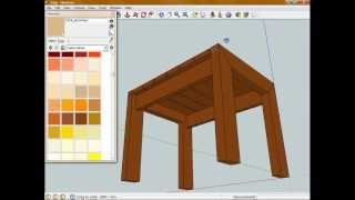 Introduction To Sketchup - Model A Simple Woodworking Project - Part 4