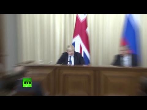 Conférence de presse de Sergueï Lavrov et de son homologue britannique Boris Johnson à Moscou
