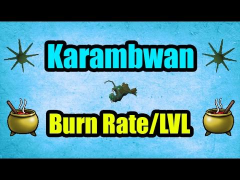 At What Level Is Cooking Karambwan Profitable? Karambwan Burn Rate/Level OSRS