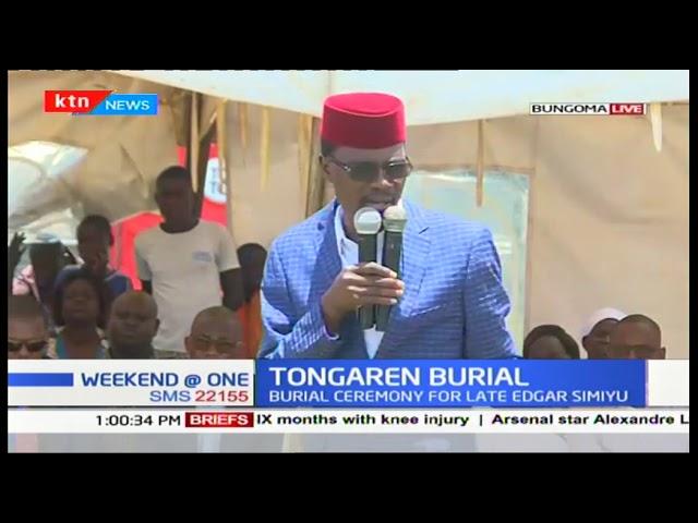 The burial ceremony of the late Edgar Simiyu underway