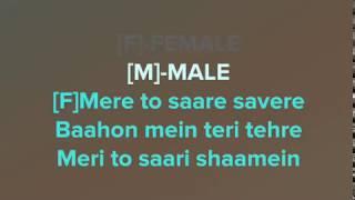 Oh Humsafar Song - Clean Karaoke With Lyrics - Neha Kakkar Himansh Kohli - Tony Kakkar Bhushan Kumar