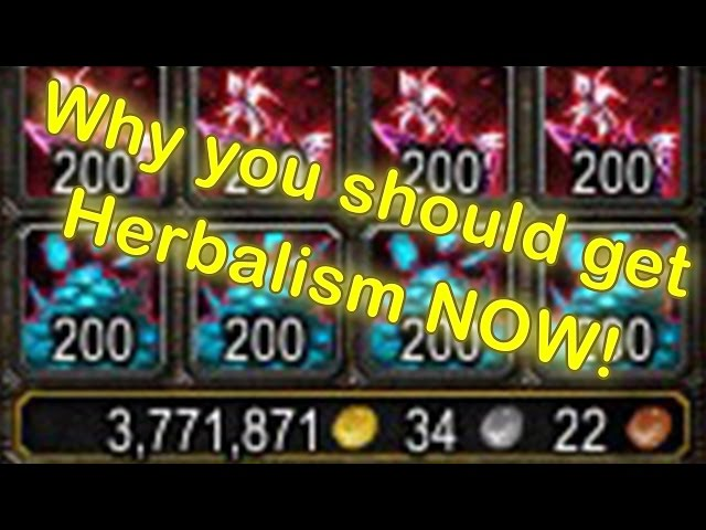 WoW Herbalism Profession - Why you should get it (WoW Herbalism Guide)(World of Warcraft Gold Guide)