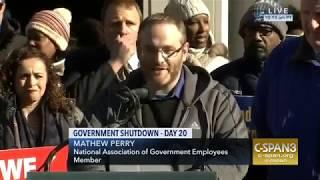Matt Perry at AFL CIO Rally to End Shutdown, Jan 10 2019 1