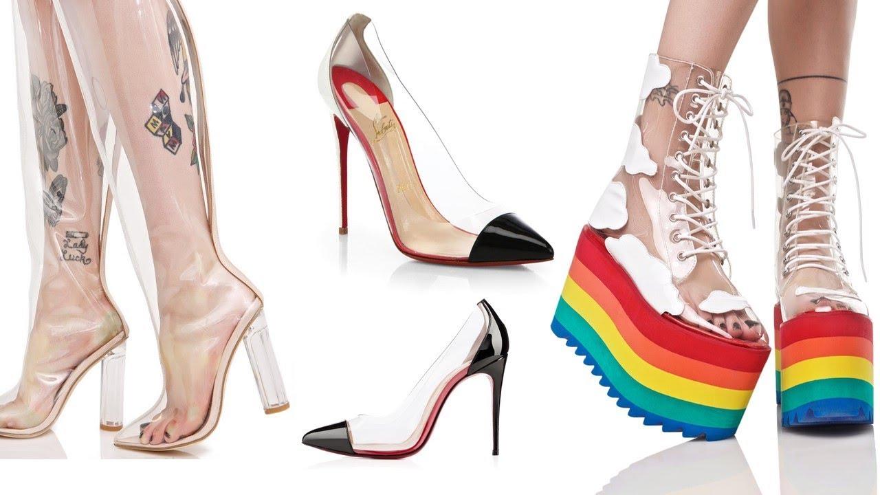 b7ea5a3c7ea0 Clear Plastic   PVC Shoes Trend  Perspex Clear Shoes