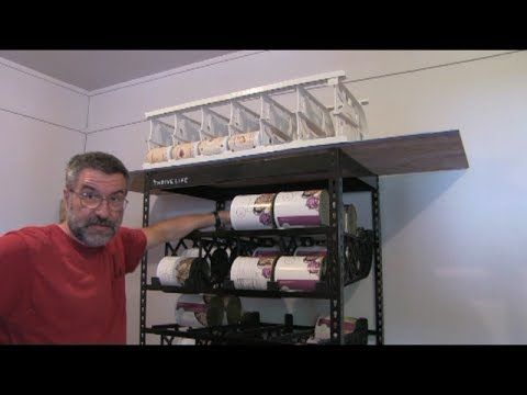 Organizing Long Term Food Storage (Thrive storage racks)