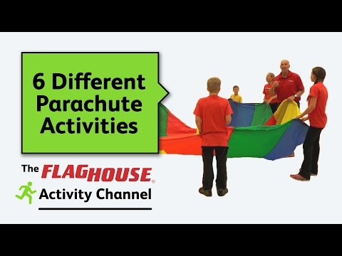 6 Different Parachute Activities For PE Class Ep 13