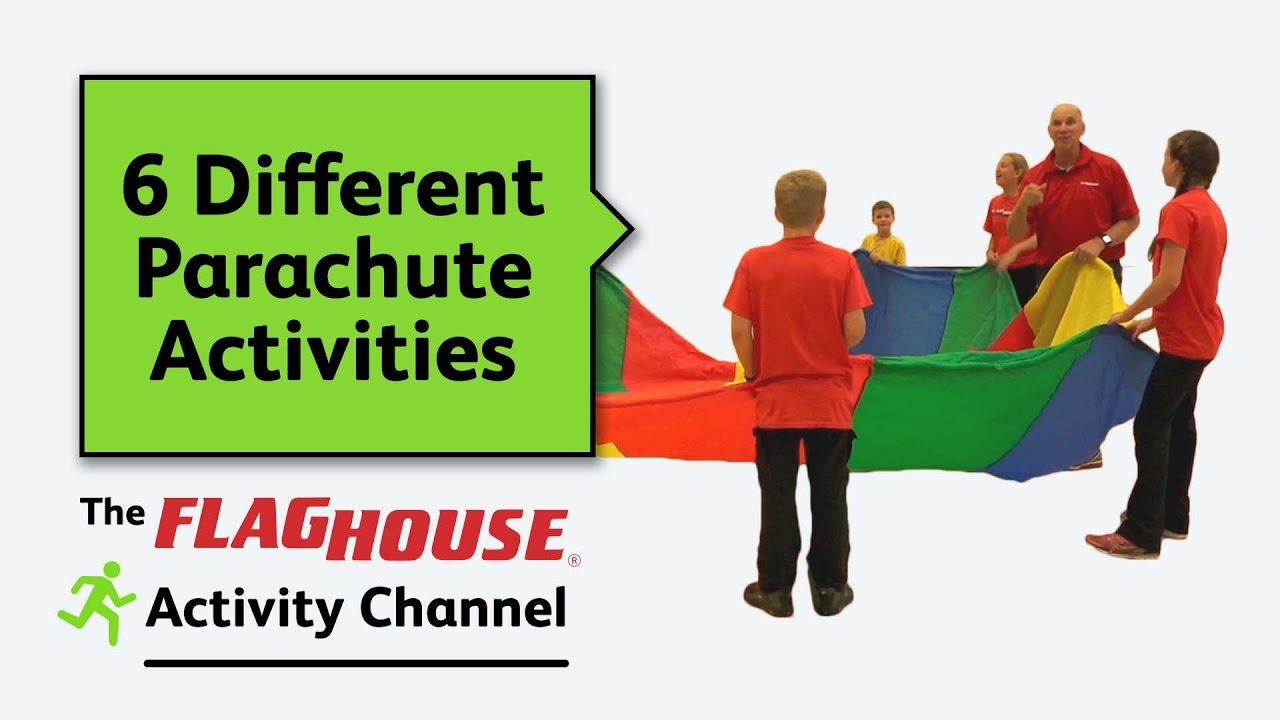 6 different parachute activities for pe class ep 13 superchute