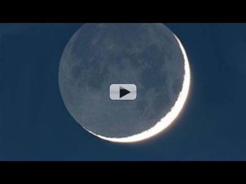 From Earth to Crescent 'Earthshine' Moon and Back