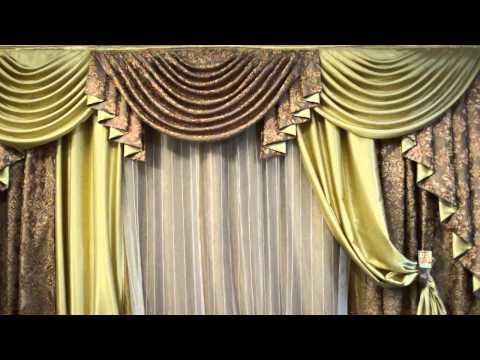 Ламбрекен в классическом стиле со шторами
