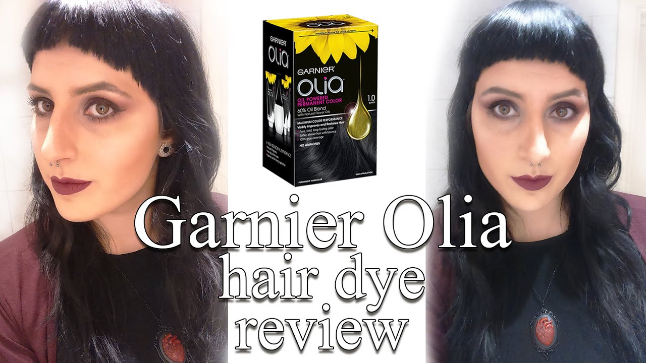 Olia Black Hair Dye Review Youtube