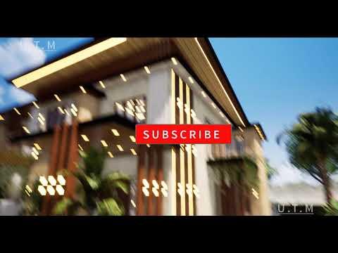 Desain Rumah Minimalis Modern Tropis 2 Lantai, Batu Alam ...