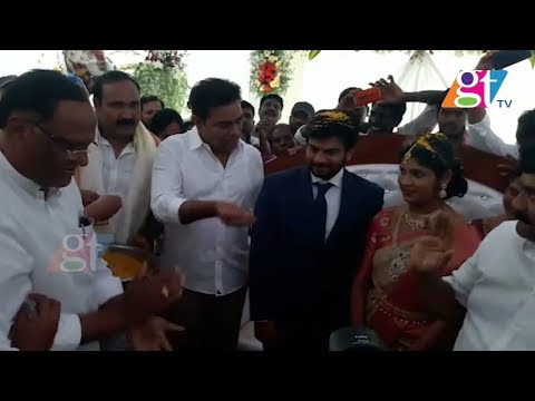 TRS MLA KTR Attended MLA Bollam Mallaiah Yadav Son Marriage | Great Telangana TV