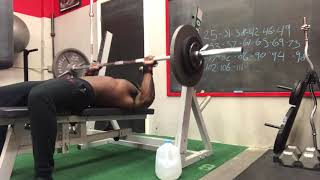 195 Pound Bench Press For 195 Reps!   -INSANE PUMP-