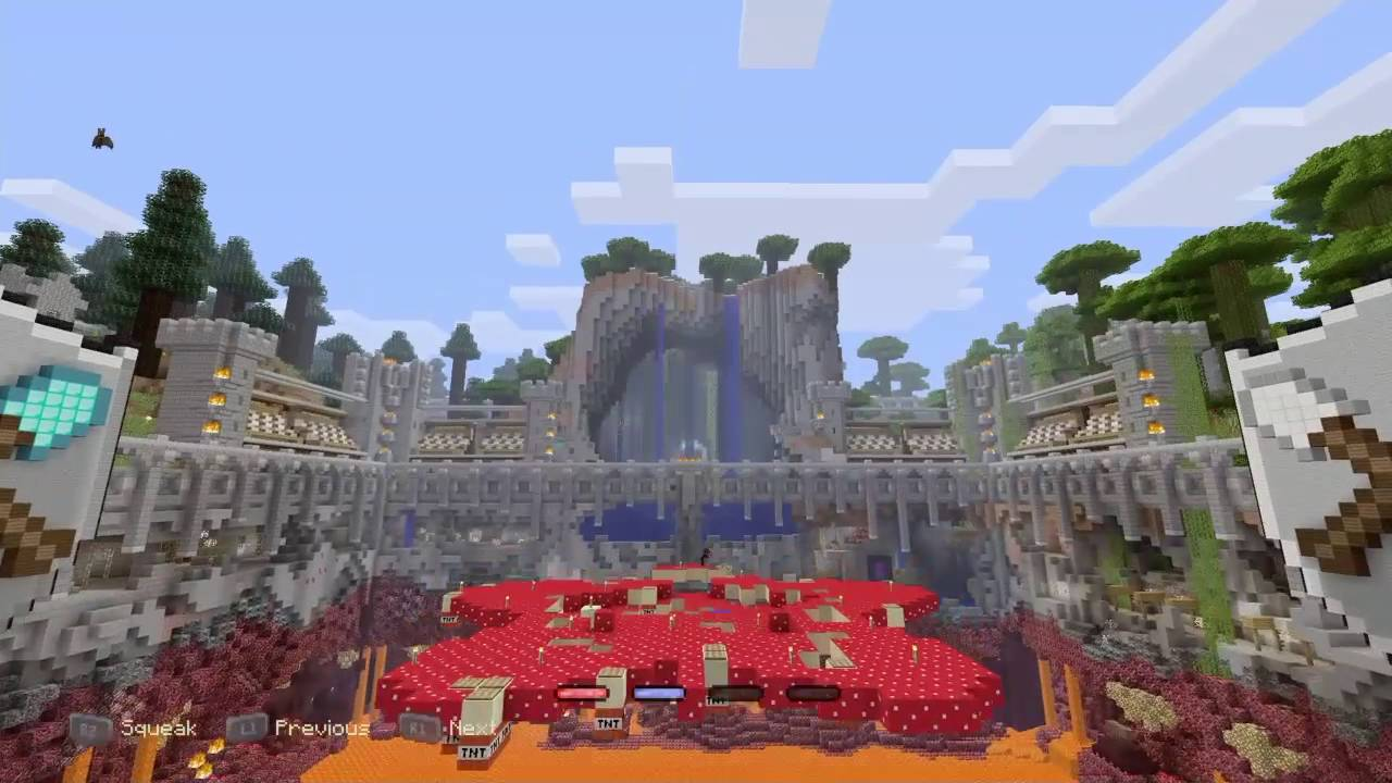 Minecraft Mini Game Hub Doors Secrets And Tumble Youtube