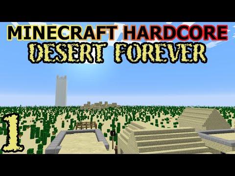 No Wood? - Minecraft Hardcore: Desert Forever - Episode 1