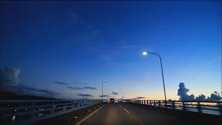HD Okinawa Evening Drive (美ら海水族館→道の駅「許田」)(Okinawa Churaumi Aquarium→Roadside Station Kyoda)