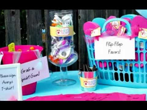 Pool Party Favors Ideas swimming pool party favors Diy Pool Party Decorations Ideas