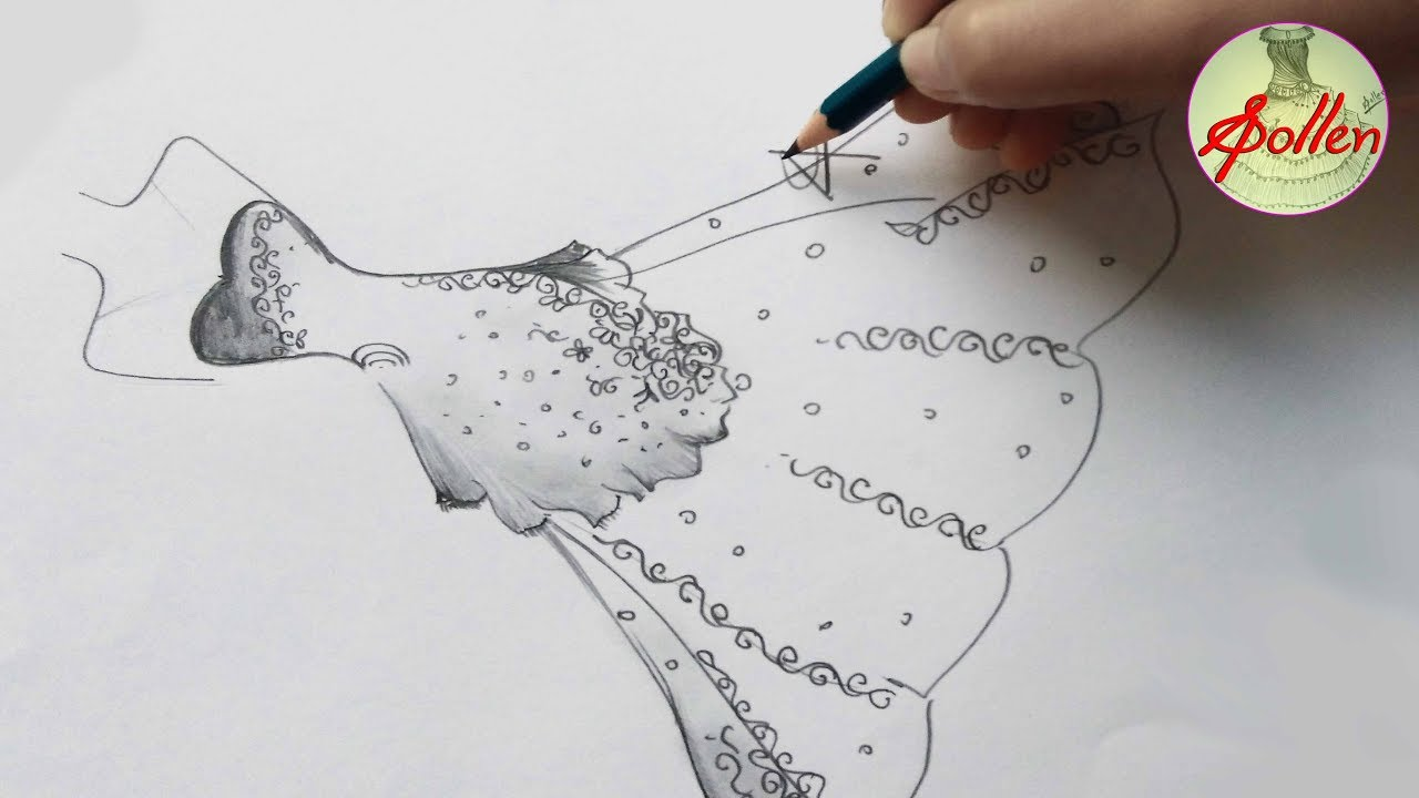 Dress Sketches For Fashion Designing How To Draw Dresses Like A Fashion Designer S Pollen Youtube