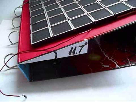 Solar panel ANGLE calculation, very easy !