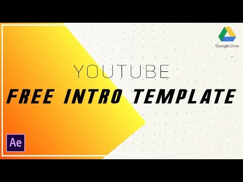 Create a Video intro with Your Logo - Youtube intro Tutorial After Effects - intro template For AE