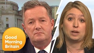 karen bradley refuses to answer questions on police cuts   good morning britain