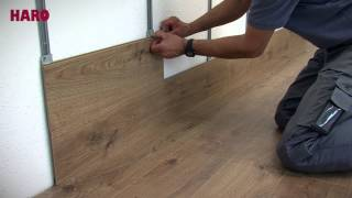 "Installation instructions for ""Floor on the Wall"" – HARO Laminate (English)"