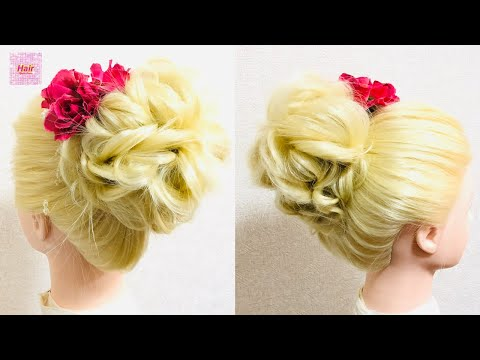 curl-bun-for-bridal-donut-hairstyle🌸easy-tutorial-簡単-お団子ヘアアレンジ