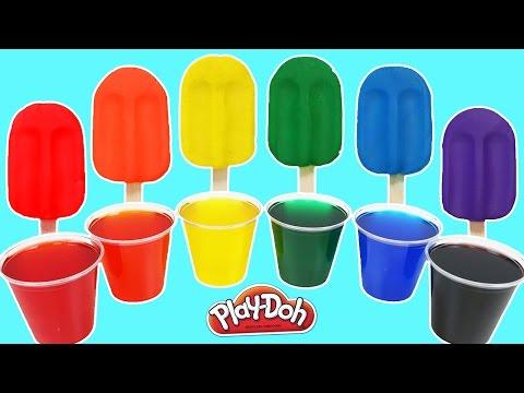 Play Doh Rainbow Popsicles Ice Cream!