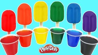 Play Doh Rainbow Popsicles Ice Cream!