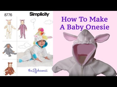 How To Make A Baby Onesie | How To Sew A Baby Onesie