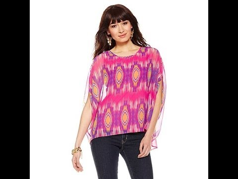 Kyle Richards Simone U Batwing Top with Camisole.  http://bit.ly/2ld6mk8