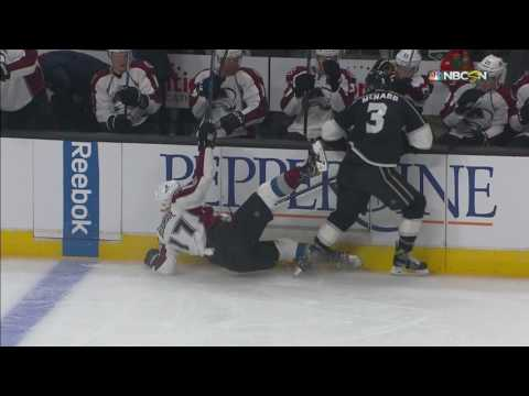 Bourque Goes To Dressing Room After Huge Hit By McNabb