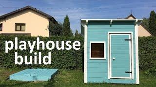 DIY playhouse Garden playhouse build for kids final dimensions 150x150x(150-170)cm.
